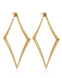Dinny Hall - Metallic Large Gold Vermeil Almaz Hoop Earrings - Lyst