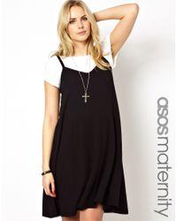 ASOS - Black Dipped Hem Cami Dress - Lyst