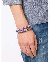 The Elder Statesman | Purple Double Wrap Woven Bracelet for Men | Lyst