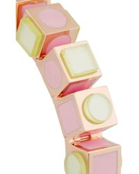Eddie Borgo - Pink Mosaic Cube Rose Gold-plated Bracelet - Lyst