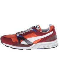 PUMA - Red Disc Zip French Sneakers for Men - Lyst