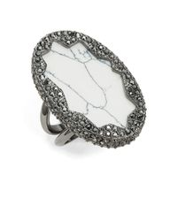 House of Harlow 1960 | Metallic Tanga Coast Howlite Cocktail Ring | Lyst