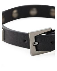 Valentino | Black 'Rockstud Noir' Bracelet for Men | Lyst