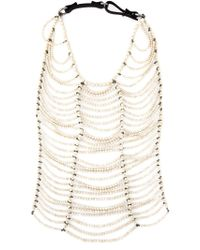 Brunello Cucinelli - White Oversize Beaded Necklace - Lyst