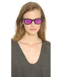 Ray-Ban | Pink Icons Wayfarer Sunglasses - Black/fuxia Mirror | Lyst