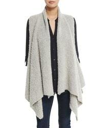 Soft Joie | Gray Orrin Boucle Wool-blend Vest | Lyst