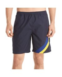 Izod - Black Striped Swim Shorts for Men - Lyst