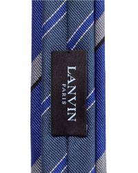 Lanvin - Blue Stripe Skinny Tie for Men - Lyst