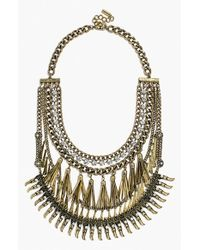 BaubleBar | Metallic 'Amazon' Bib Necklace - Clear/ Mixed Metal | Lyst