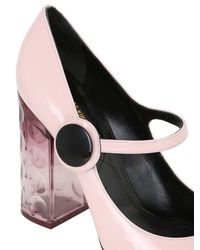f99471618c2 Lyst - Nicholas Kirkwood 105mm Carnaby Patent   Plexi Pumps in Pink