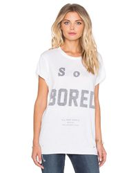 The Laundry Room - White So Bored Rolling Tee - Lyst
