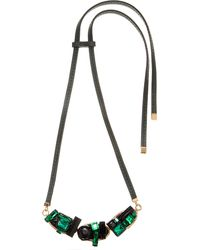 Marni - Green Embellished Pendant Necklace - Lyst