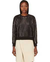 3.1 Phillip Lim - Black Coated and Cracked Sweatshirt - Lyst