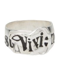 Vivienne Westwood Anglomania | Metallic Thick Band Ring for Men | Lyst