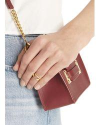 Vita Fede | Metallic Ultra Mini Titan Gold-plated Swarovski Ring | Lyst