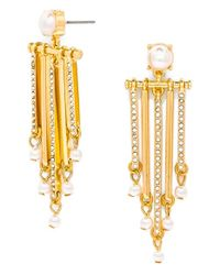 BaubleBar | Metallic 'labyrinth' Drop Earrings - Clear/ Gold | Lyst
