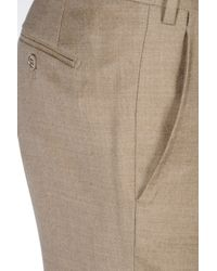 Armani - Natural Classic Trousers In Wool And Cashmere for Men - Lyst