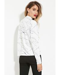 Forever 21 - White Eric + Lani Marble Print Top - Lyst