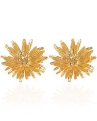 Alex Monroe - Metallic Goldplated Dandelion Stud Earrings - Lyst