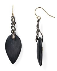 Alexis Bittar | Black Lucite & Crystal Lace Drop Earrings | Lyst