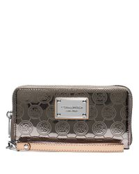 MICHAEL Michael Kors | Metallic Jet Set Large Multifunction Phone Case | Lyst