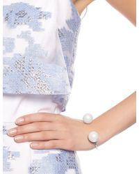 Maria Stern | Metallic Silver Imitation Pearl Cuff | Lyst