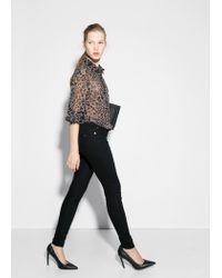 Mango - Black Skinny Paty Jeans - Lyst