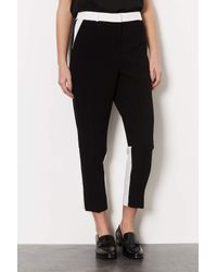 TOPSHOP | Black Colourblock Tailored Trousers | Lyst