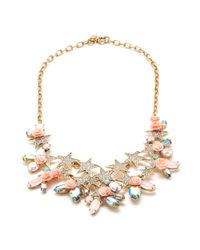 J.Crew | Pink Flower Power Statement Necklace | Lyst