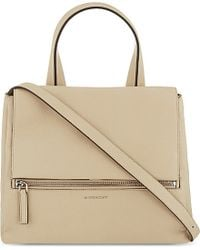 Givenchy - Natural Pandora Medium Leather Shoulder Bag - Lyst