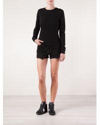 Cotton Citizen - Black Side Zip Sweatshirt - Lyst