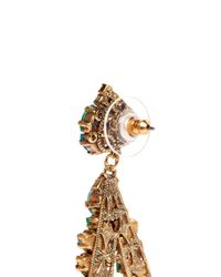 Aerin - Green X Erickson Beamon Crystal Teardrop Earrings - Lyst