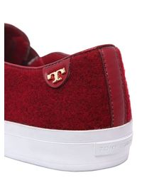Tory Burch - Red Rudy Gradient Wool Slip-on Sneakers - Lyst