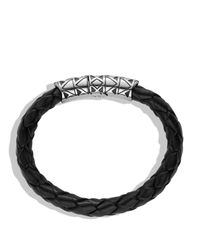 David Yurman - Metallic Frontier Bracelet In Black for Men - Lyst