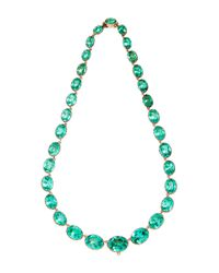 Fd Gallery | Antique Green Paste And Gold Riviere Necklace | Lyst