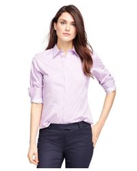 Brooks Brothers - Pink Fitted Cotton Stripe Dress Shirt - Lyst