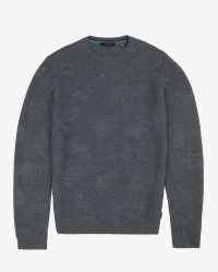 Ted Baker | Gray Jacquard Crew Neck Jumper for Men | Lyst