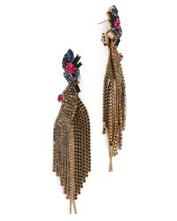Erickson Beamon | Multicolor Underground Crystal Earrings - Multi | Lyst