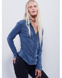 Free People - Blue We The Free Womens We The Free Caroline Shirt - Lyst