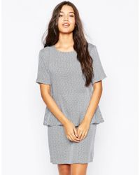 Just Female | Gray Japan Dress In Dot Print | Lyst