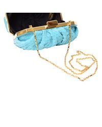 Philippe Roucou | Blue Peppermint Python Clutch | Lyst