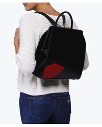 Lulu Guinness | Black Abstract Lips Eva Backpack | Lyst
