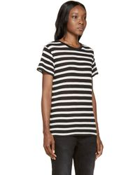 R13 | Black And Ivory Striped Boy T-shirt | Lyst