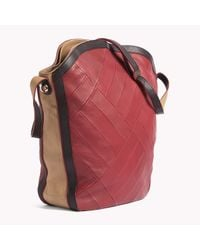 Tommy Hilfiger | Red Leather Hobo | Lyst