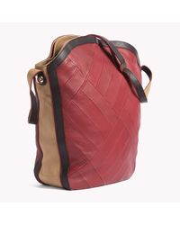 Tommy Hilfiger - Red Leather Hobo - Lyst
