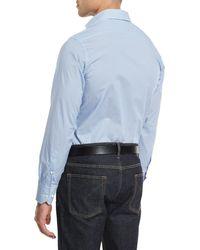 Neiman Marcus   Blue Circle-print Long-sleeve Sport Shirt for Men   Lyst