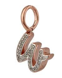 Monica Vinader - Multicolor Rose Gold-plated Alphabet Diamond W Pendant - Lyst