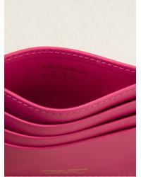 Giorgio Armani | Pink Classic Card Holder | Lyst