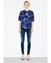 M.i.h Jeans | Blue Rico Top | Lyst