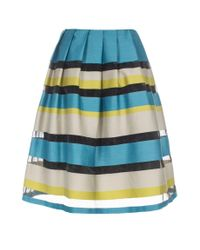 Paul Smith | Multicolor Women'S Sheer Stripe Cotton-Blend Full Skirt | Lyst